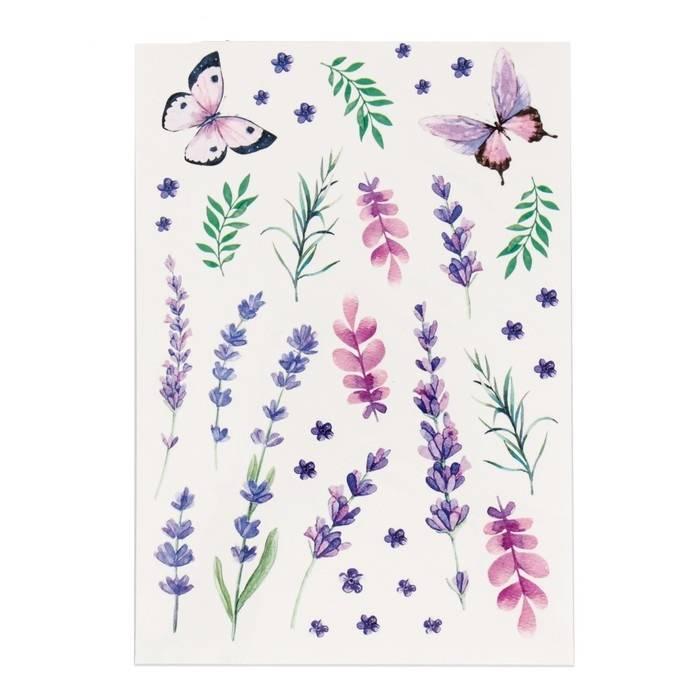 арты с цветами в виде наклеек